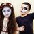 zombie apocalypse kids concept birthday party celebration facep stock photo © iordani