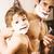 apa · fia · együtt · fürdőszoba · otthon · férfi · gyermek - stock fotó © iordani