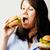 グルメ · ハンバーガー · 白 · チーズ · 新鮮な野菜 - ストックフォト © iordani