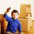 pequeno · bonitinho · menino · quarto · vazio · casa - foto stock © iordani