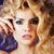 retrato · beleza · loiro · mulher · jovem · preto · renda - foto stock © iordani