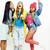 diverse nation girls group teenage friends company cheerful having fun happy smiling cute posing stock photo © iordani