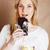 genç · güzellik · sarışın · genç · kız · yeme · çikolata - stok fotoğraf © iordani