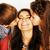 twee · mooie · kinderen · zoenen · moeder · gelukkig - stockfoto © iordani