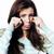 teenage girl looking worried isolated on white background lifestyle people stock photo © iordani