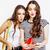 lifestyle people concept two pretty stylish modern hipster teen girl having fun together happy smi stock photo © iordani