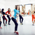 women doing sport in gym jumping healthcare lifestyle people c stock photo © iordani