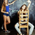 back to school after summer vacations two teen girls in classroom with blackboard painted together stock photo © iordani