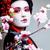 小さな · かなり · 芸者 · 着物 · 桜 · 赤 - ストックフォト © iordani