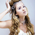 beauty young snow queen with hair crown on her head complicate stock photo © iordani