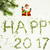 happy new year design on white background with pine tree and santa claus stock photo © iordani