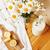 süt · çiçekler · ahşap · masa · üst · görmek - stok fotoğraf © iordani