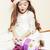 weinig · cute · meisje · Rood · hoed · wachten - stockfoto © iordani