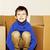 pequeño · cute · nino · habitación · vacía · casa - foto stock © iordani