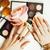 nő · kezek · arany · manikűr · sok · gyűrűk - stock fotó © iordani