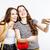twee · tienermeisjes · samen · poseren - stockfoto © iordani