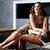 schoonheid · brunette · vrouw · vergadering · haard · home - stockfoto © iordani