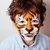 little cute boy with faceart on birthday party close up little cute tiger stock photo © iordani