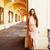 genç · güzel · gülümseyen · kadın · şapka · çanta · alışveriş - stok fotoğraf © iordani