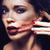bellezza · bruna · donna · nero · velo · rosso - foto d'archivio © iordani