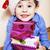 küçük · sevimli · erkek · Noel · hediyeler · ev - stok fotoğraf © iordani