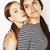 два · Cute · подростков · вместе · изолированный - Сток-фото © iordani
