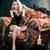 güzel · gülen · genç · kız · seksi · siyah · iç · çamaşırı · modern - stok fotoğraf © iordani