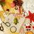 feito · à · mão · natal · presentes · bagunça · brinquedos · velas - foto stock © iordani
