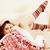 молодые · довольно · брюнетка · девушки · Рождества · орнамент - Сток-фото © iordani