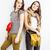 two best friends teenage girls together having fun posing emotional on white background besties ha stock photo © iordani