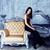 retro · rijke · vrouw · zwarte · jurk · mooie · glas - stockfoto © iordani