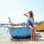 красивая · женщина · девушки · удочка · Троллинг · лодка - Сток-фото © iordani