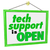 tech support is open hanging sign words message it help assistan stock photo © iqoncept