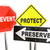 prevent protect preserve road street signs safety security 3d il stock photo © iqoncept