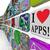 aplicativos · mercado · parede · aplicativo · ícones - foto stock © iqoncept