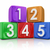 5 five principles elements basic building blocks counting cubes stock photo © iqoncept