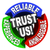 trust us circle words reliable experienced knowledgeable stock photo © iqoncept