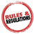 rules and regulations red ink stamp follow laws guidelines stock photo © iqoncept