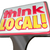 think local words sign advertising community stores retail busin stock photo © iqoncept