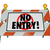 no entry barricade access road construction sign barrier stock photo © iqoncept