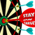 stay on target words dart board focus goal mission achieved stock photo © iqoncept