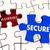 vulnerable secure security puzzle piece 3d illustration stock photo © iqoncept