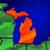 Michigan · kaart · geïsoleerd · witte · USA · amerika - stockfoto © iqoncept