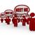 tekstballon · mensen · nieuwe · klanten · netwerk · marketing - stockfoto © iqoncept