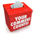 your comment counts suggestion feedback opinion box stock photo © iqoncept
