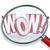 wow word magnifying glass search discovery amazing find stock photo © iqoncept