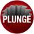 plunge word long shadow hole crack falling risk circle stock photo © iqoncept