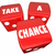 take a chance three red dice rolling 3d illustration stock photo © iqoncept