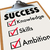 succeed checklist words for success   knowledge skills ambition stock photo © iqoncept