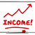 income rising chart arrow going up red word 3d illustration stock photo © iqoncept